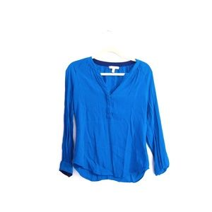 Banana Republic Blue Long Sleeve Career Blouse S